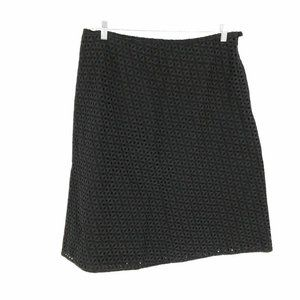David Brooks Skirt Women's 16 A-line Perforated Co